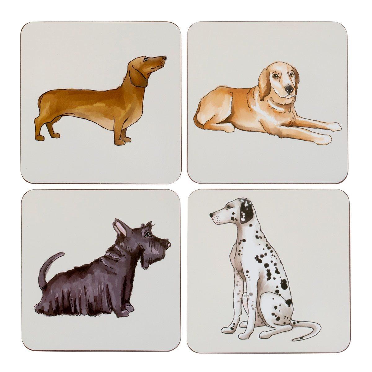 Dog Coasters - Set Of 4