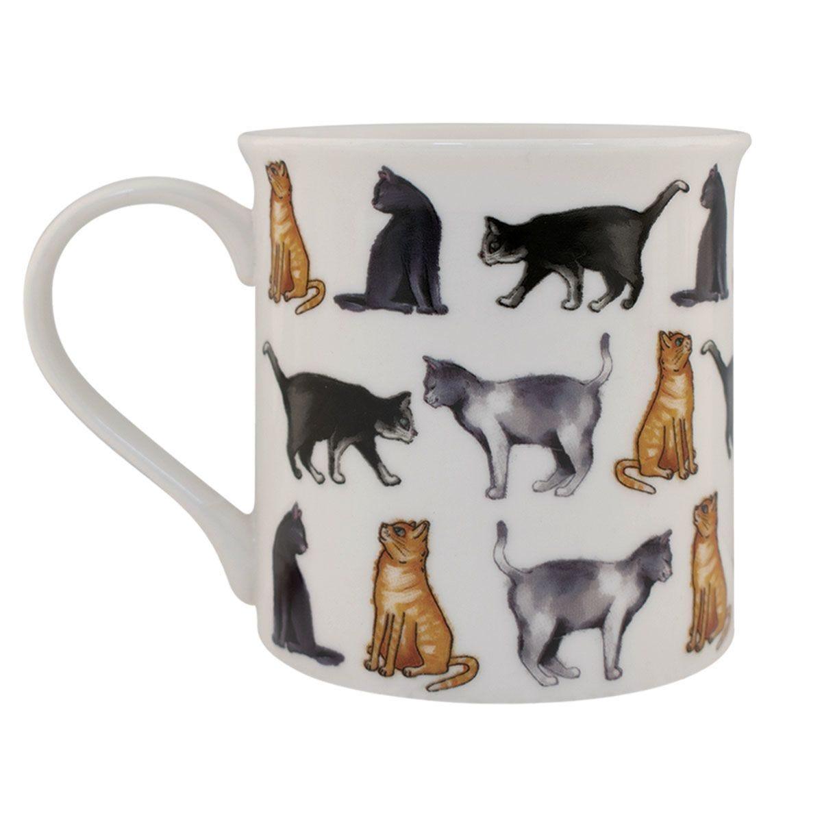 Multi Cat Design Ceramic Mug