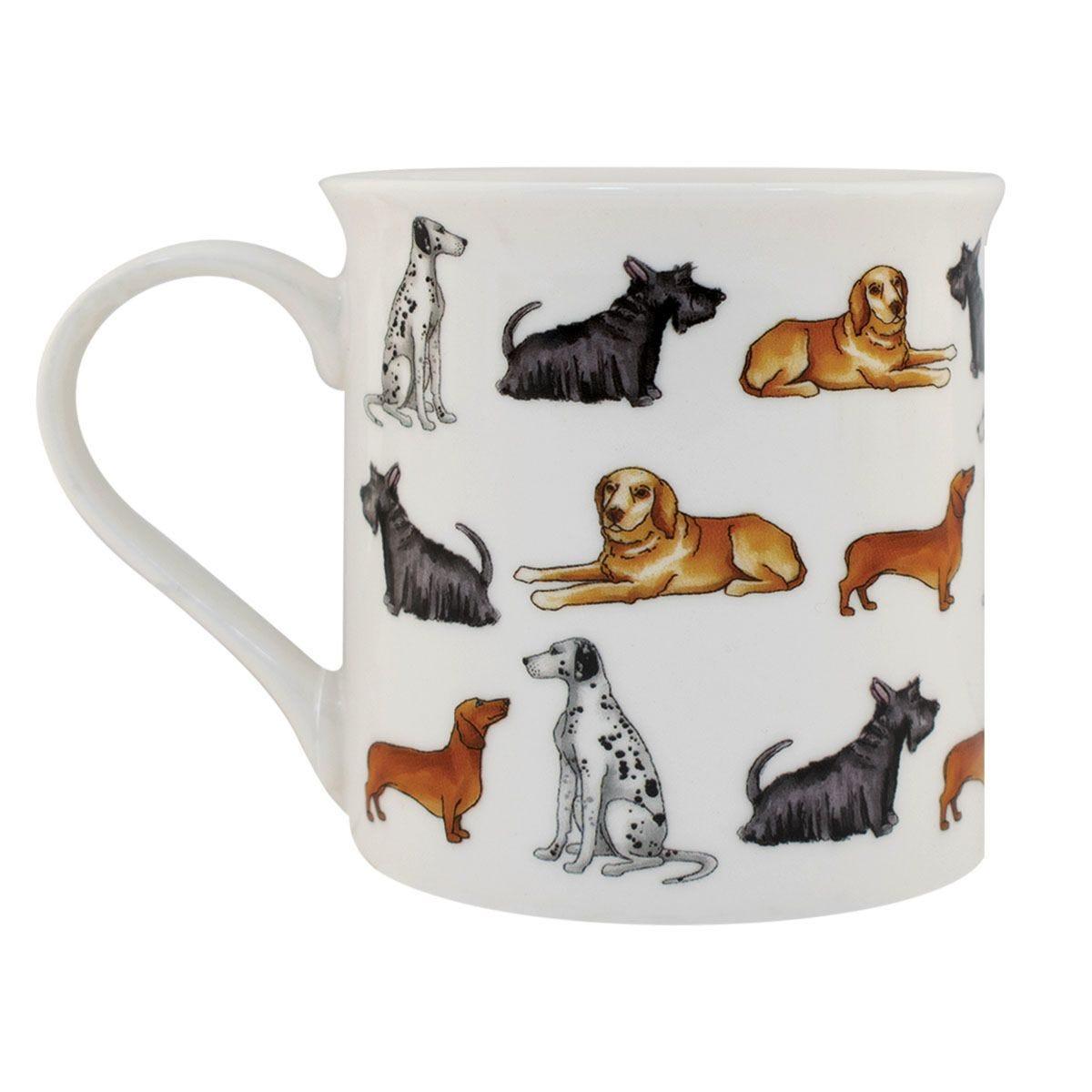 Multi Dog Design Ceramic Mug