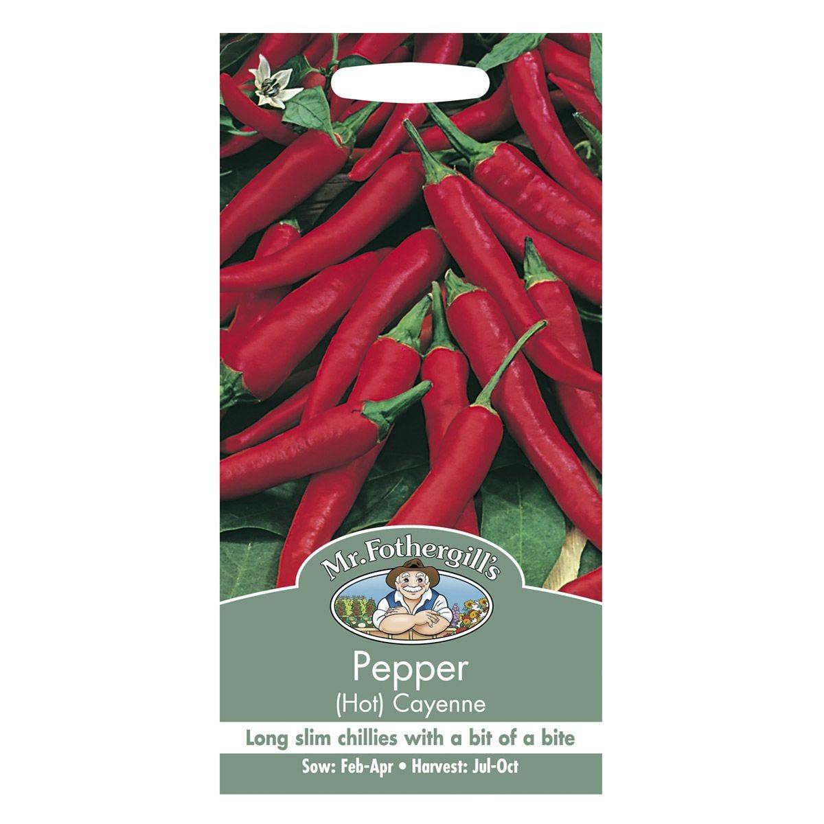 Mr Fothergill's Pepper (Hot) Cayenne Seeds