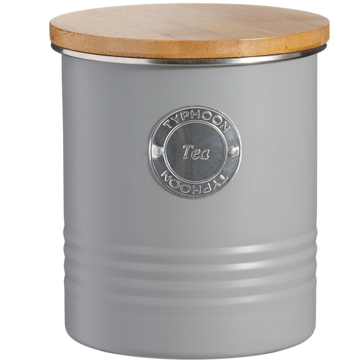 Typhoon Living Tea Storage Canister - Grey
