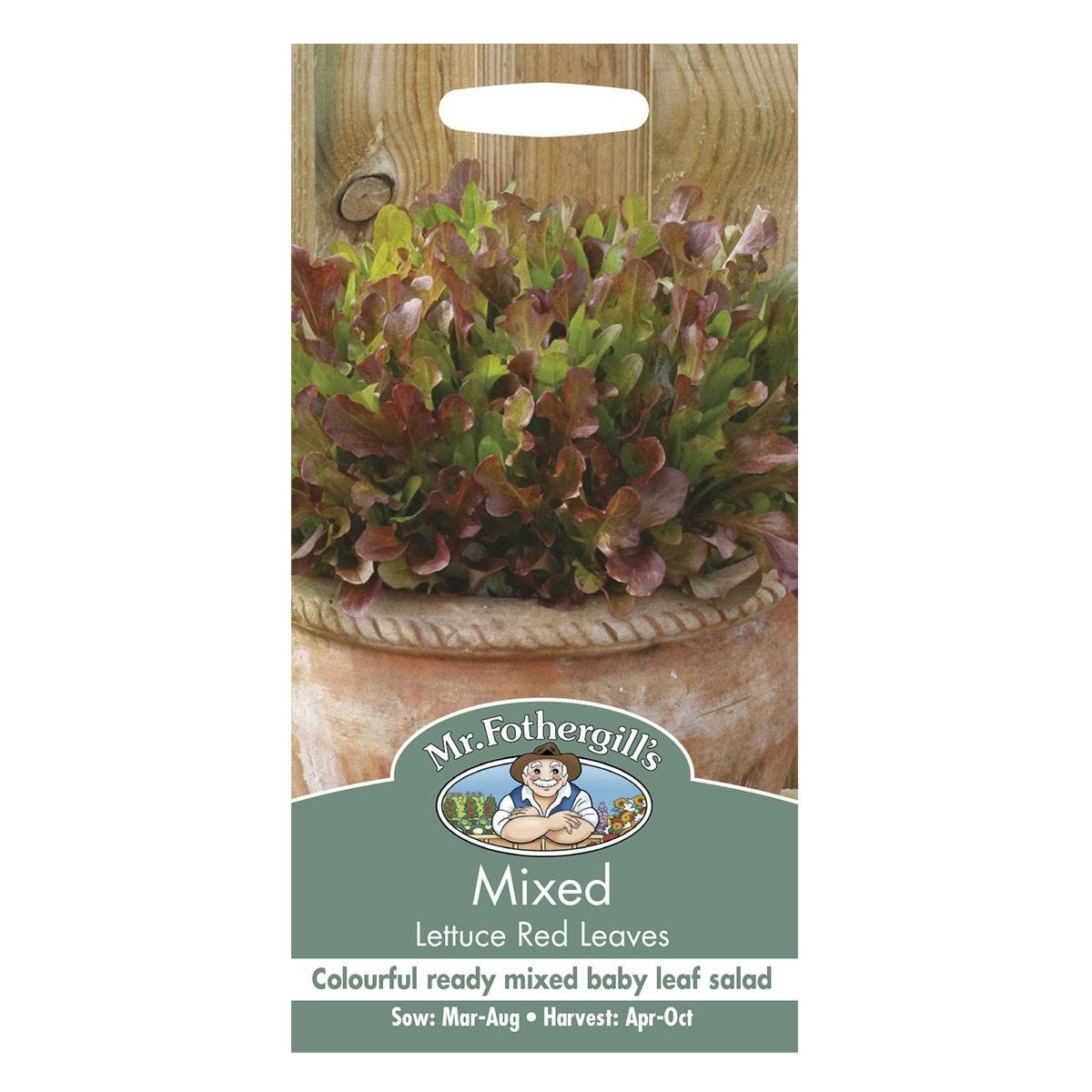 Mr Fothergill's Mixed Lettuce Red Leaves Seeds