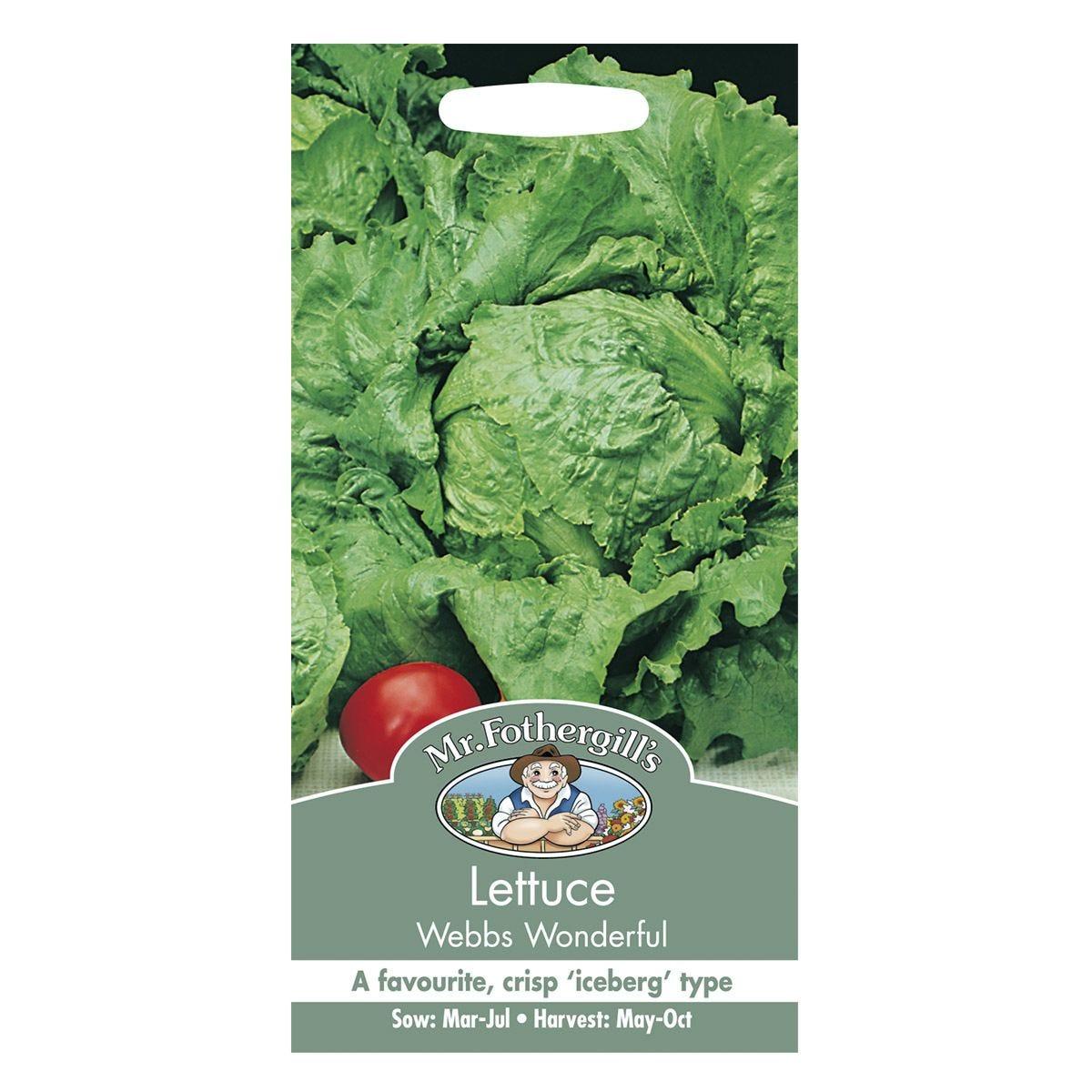 Mr Fothergill's Lettuce Webbs Wonderful Seeds