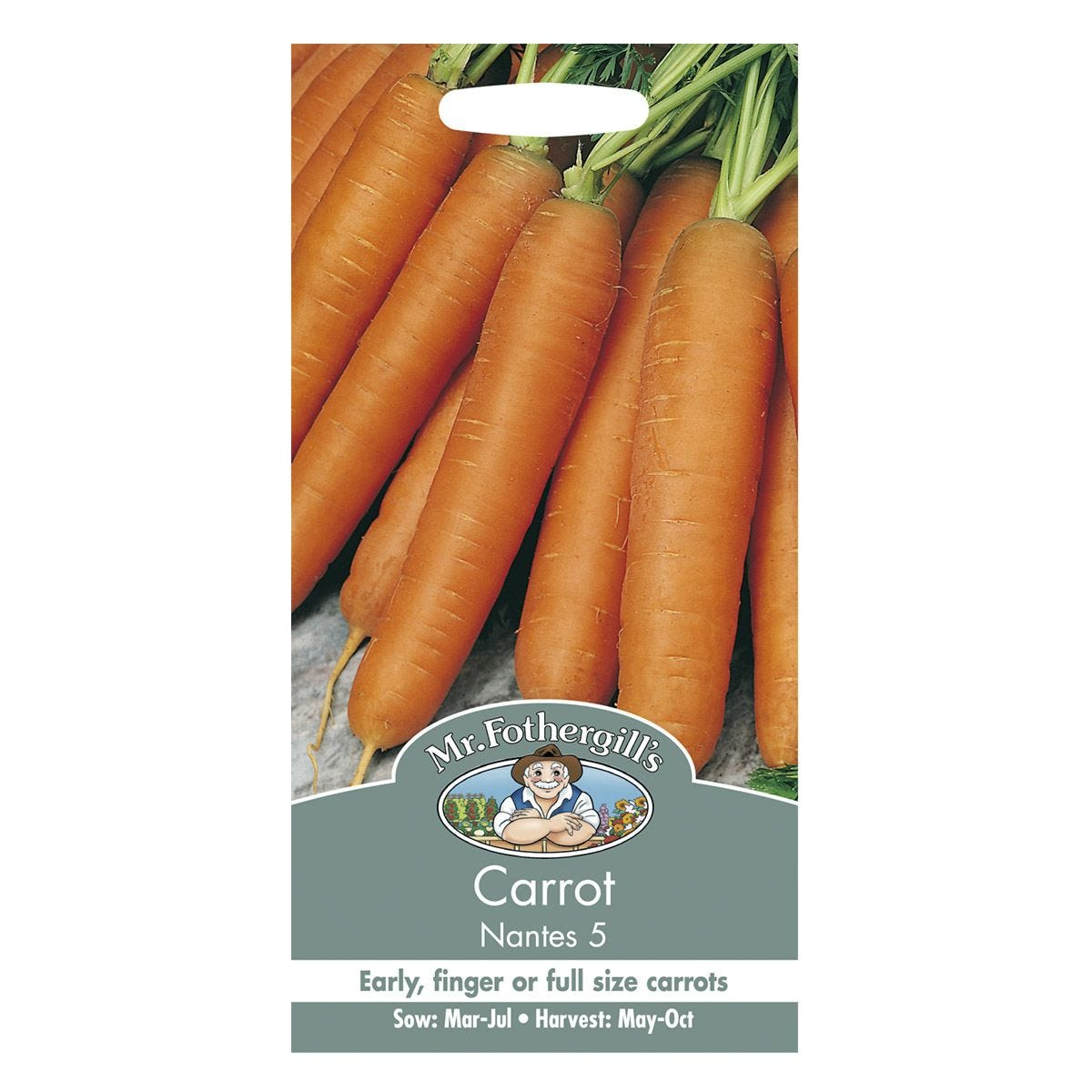Mr Fothergill's Carrot Nantes 5 Seeds