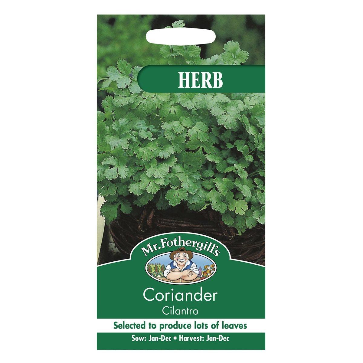 Mr Fothergill's Coriander Cilantro (For Leaf) Seeds