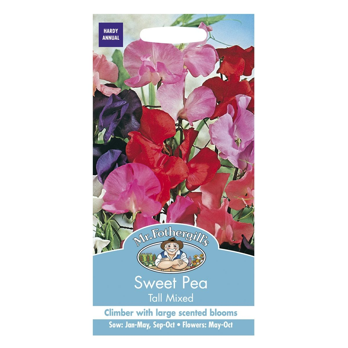 Mr Fothergill's Sweet Pea Tall Mixed Seeds