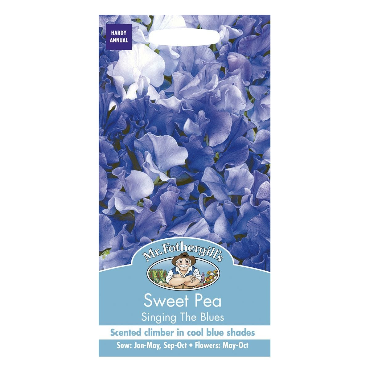 Mr Fothergill's Sweet Pea Singing The Blues Seeds