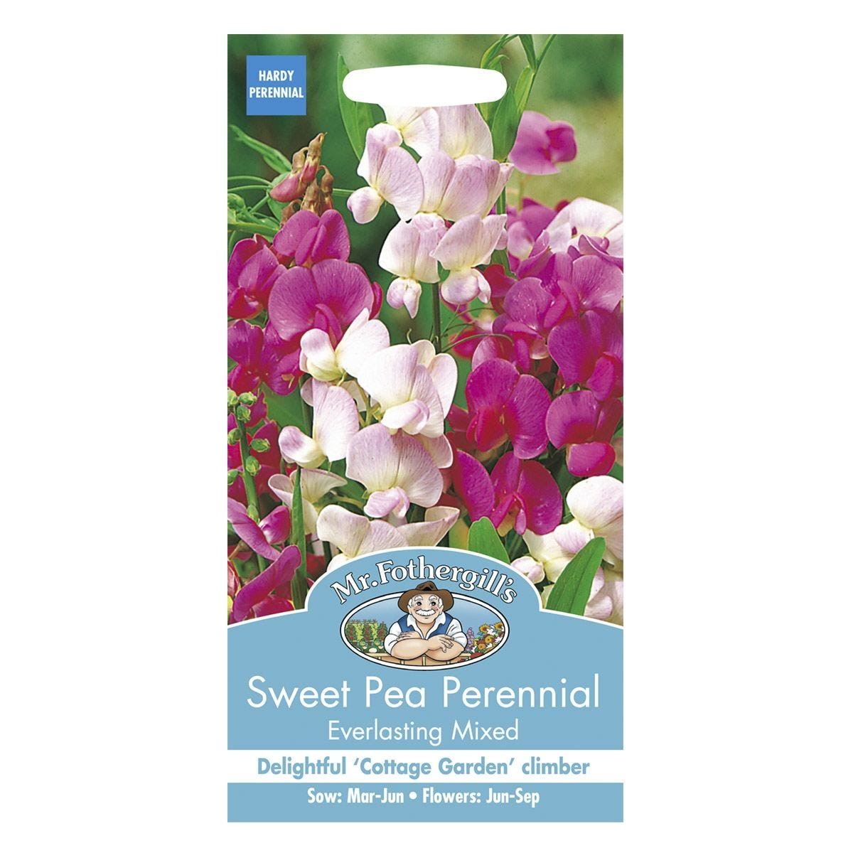 Mr Fothergill's Sweet Pea Perennial Everlasting Mixed Seeds
