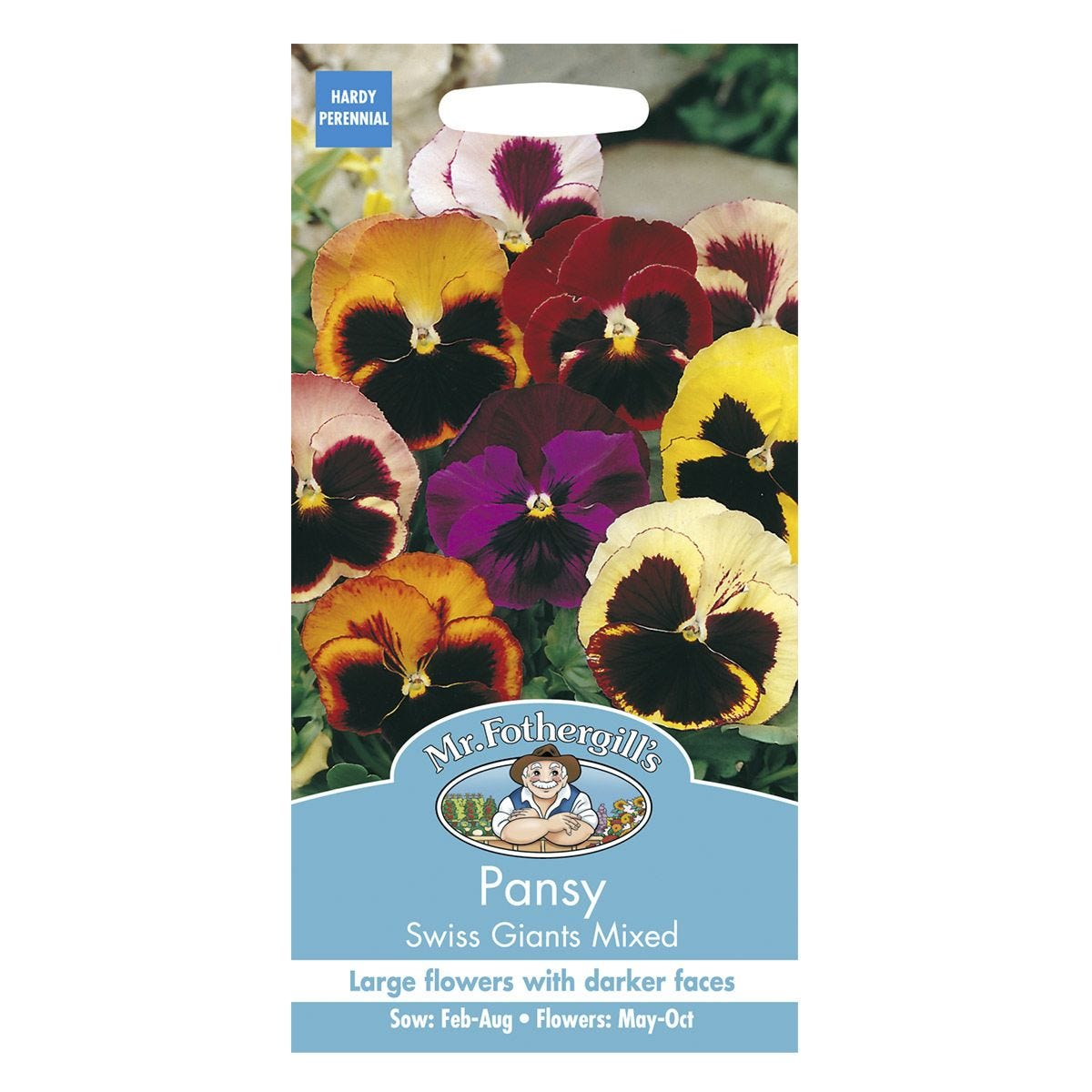 Mr Fothergill's Pansy Swiss Giants Mixed Seeds