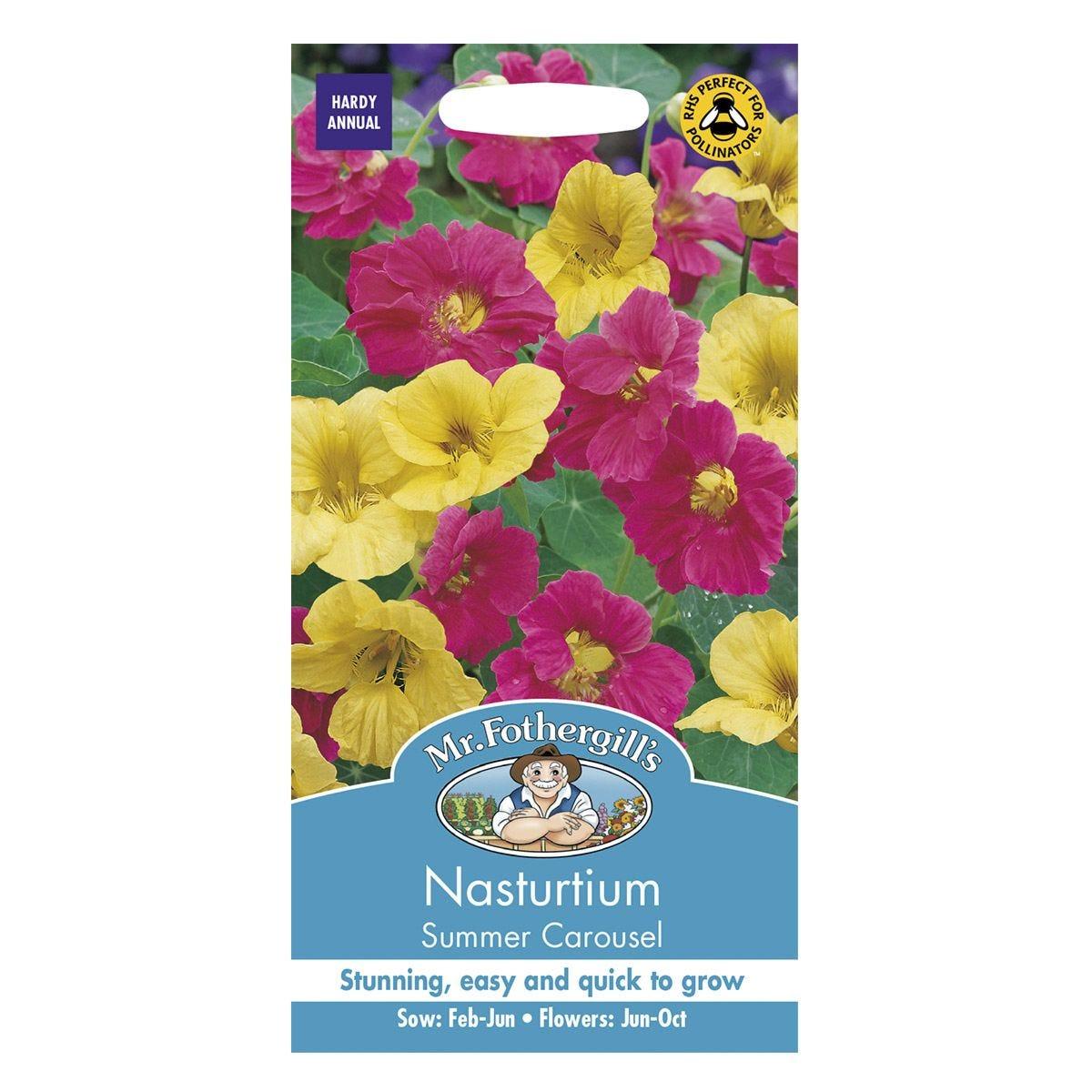 Mr Fothergill's Nasturtium Summer Carousel Seeds