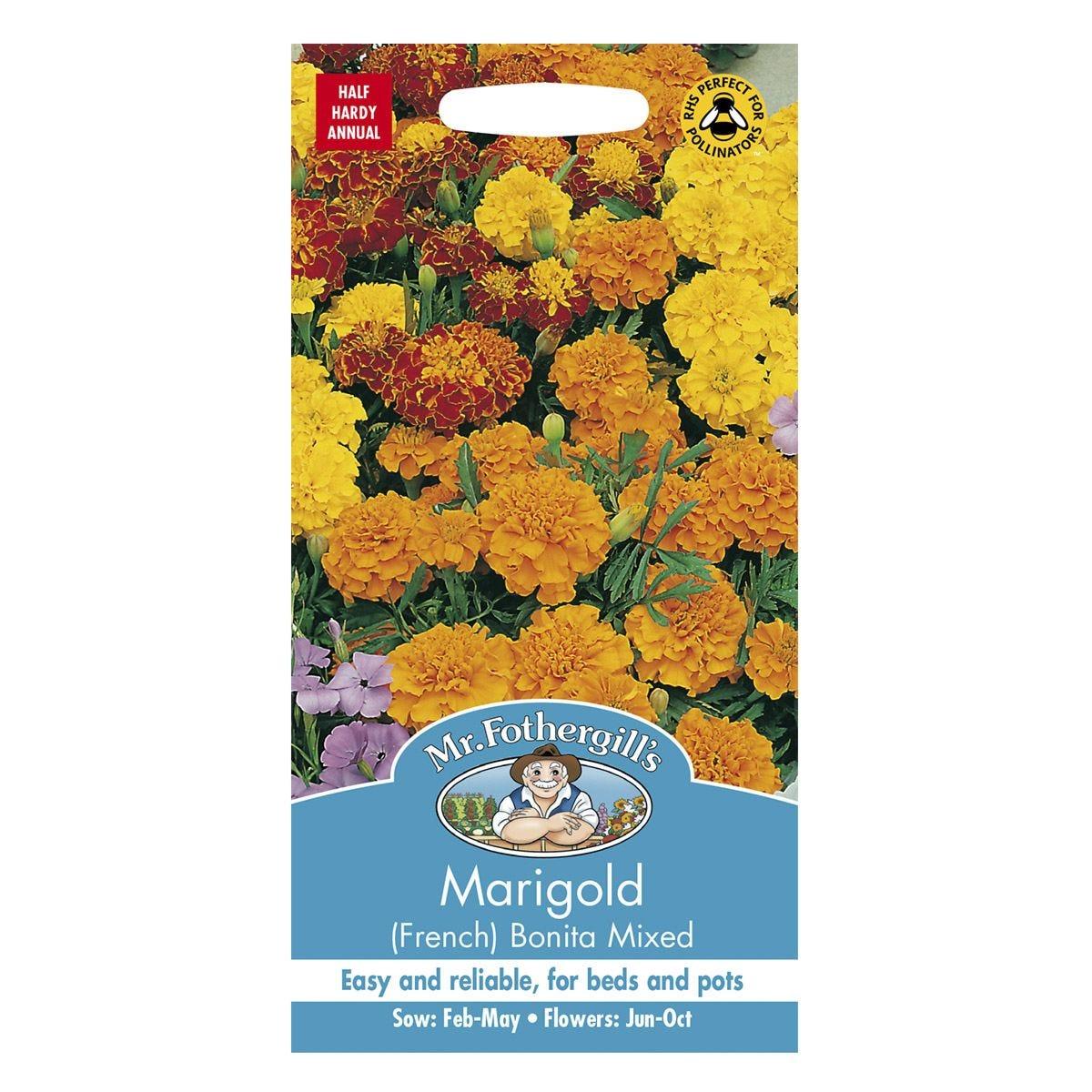 Mr Fothergill's Marigold (French) Bonita Mixed Seeds