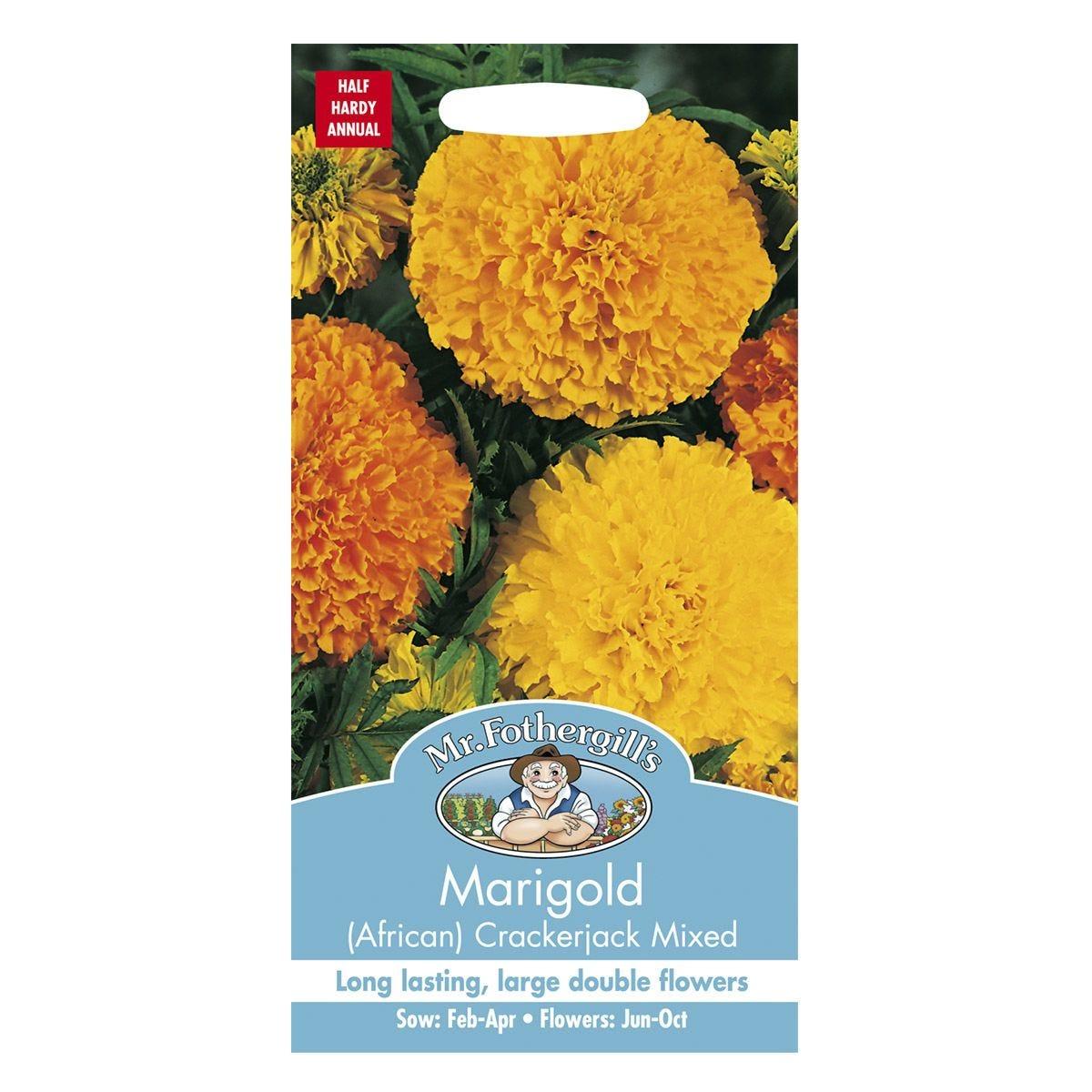 Mr Fothergill's Marigold (African) Crackerjack Mixed Seeds