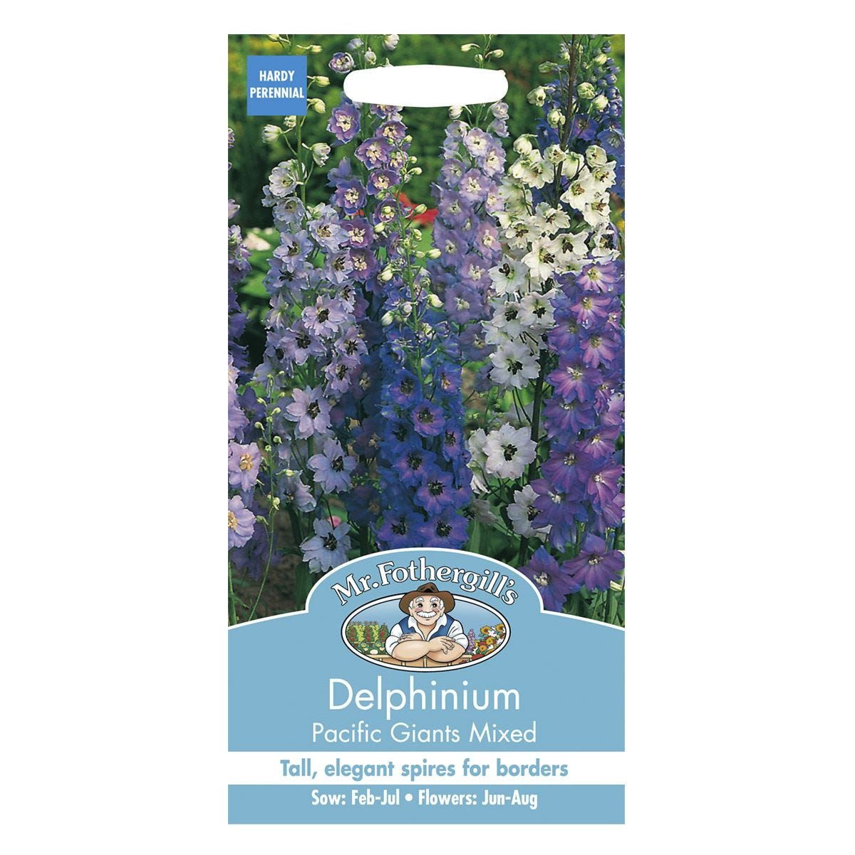 Mr Fothergill's Delphinium Pacific Giants Mixed Seeds