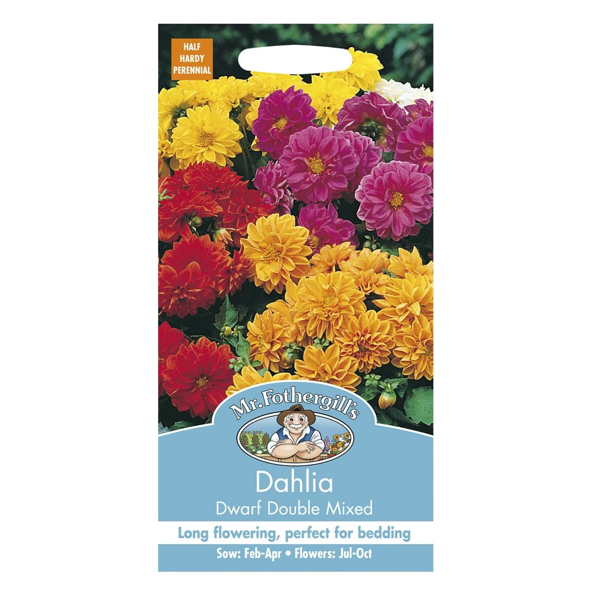 Mr Fothergill's Dahlia Dwarf Double Mixed Seeds
