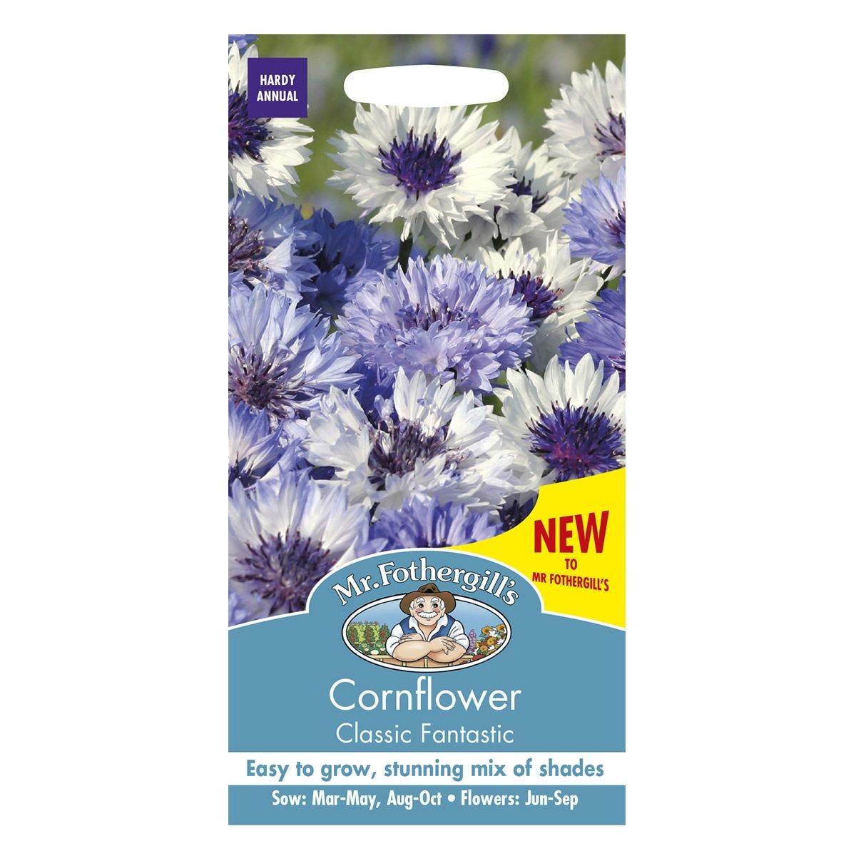 Mr Fothergill's Cornflower Classic Fantastic Seeds
