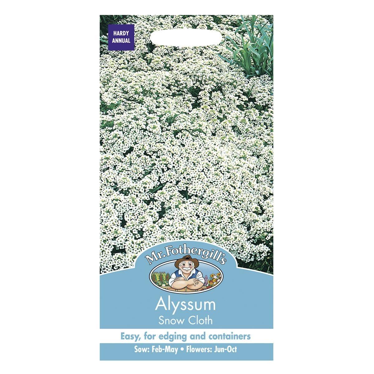 Mr Fothergill's Alyssum Snow Cloth Seeds