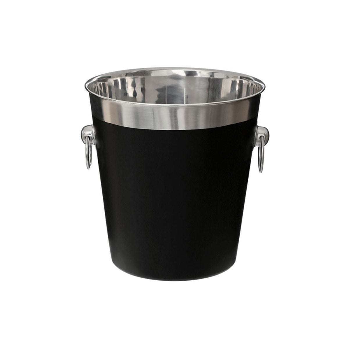 Premier Housewares Stainless Steel Champagne Bucket - Black