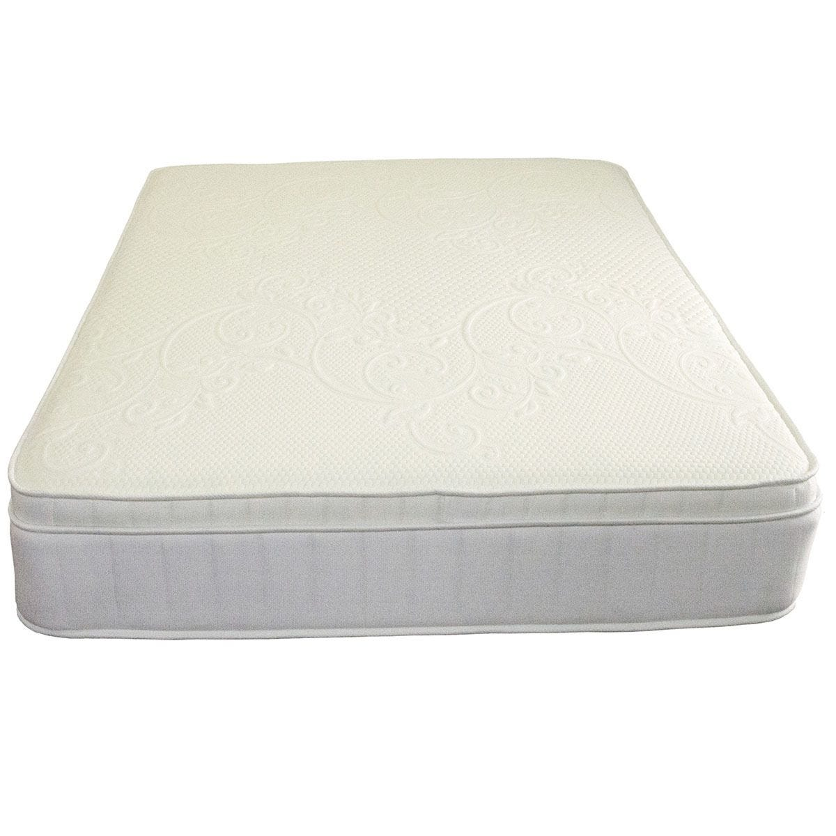 Comfy Deluxe Pillow Top Memory Mattress - White