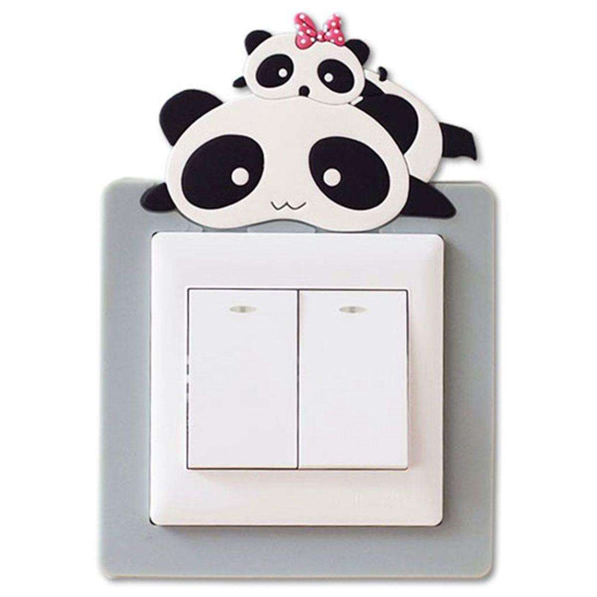 Haven Novelty Light Cover Sticker - White Panda