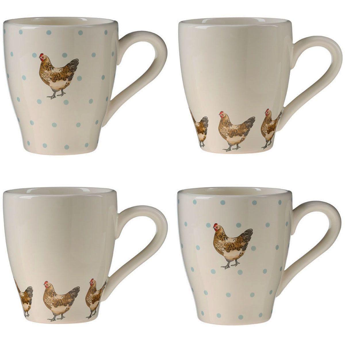 Premier Housewares Mrs Henderson Mugs - Set of 4