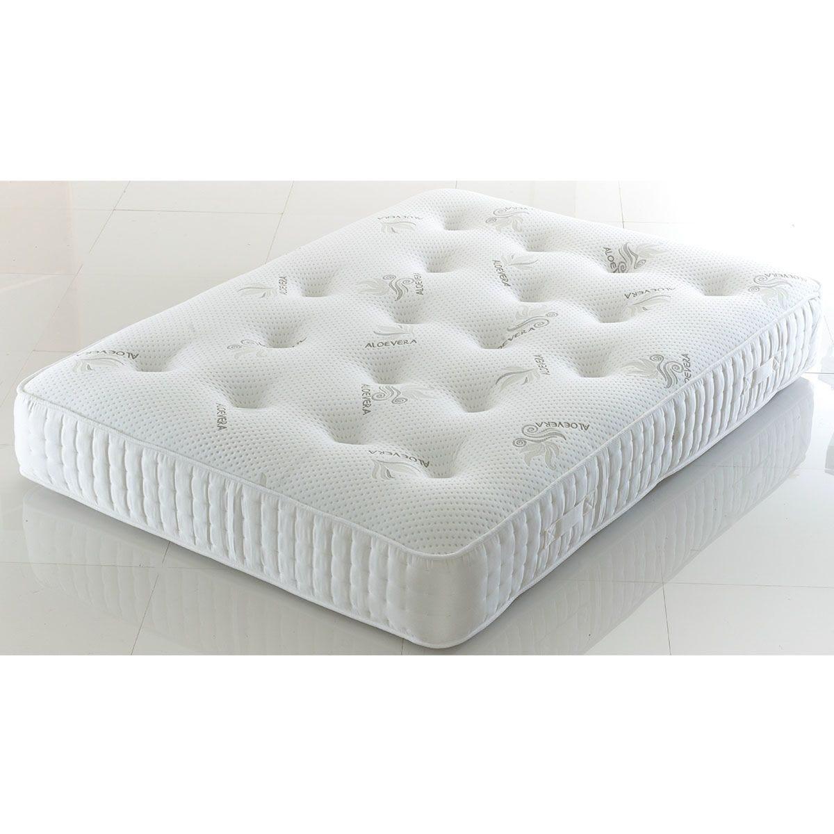 Comfy Deluxe 1500 Pocket Kashmira Memory Mattress - White