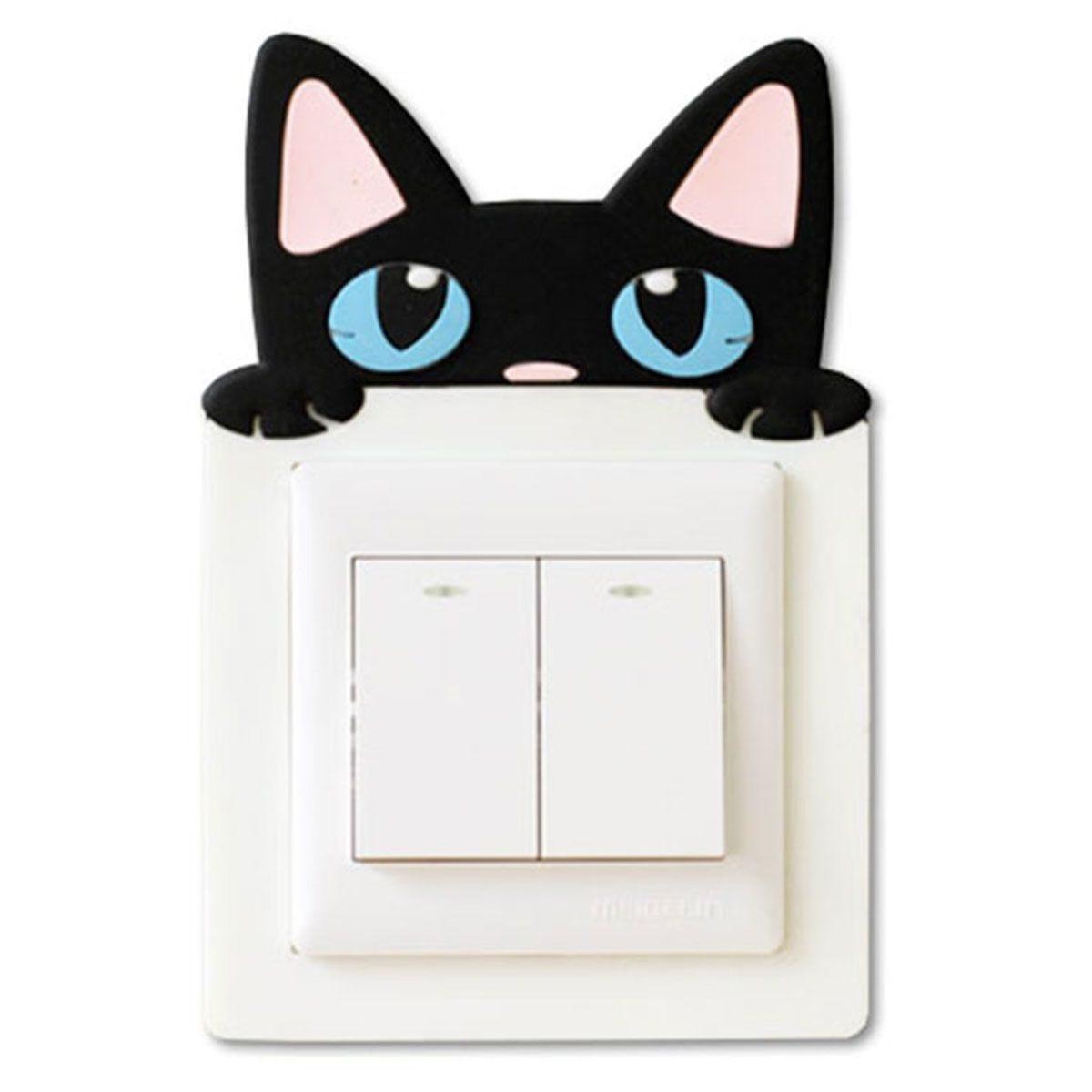 Haven Novelty Light Cover Sticker – White Cat