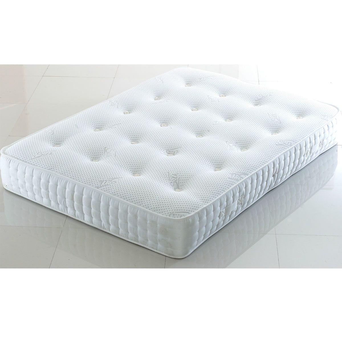 Comfy Deluxe 1000 Pocket Silk Mattress - White