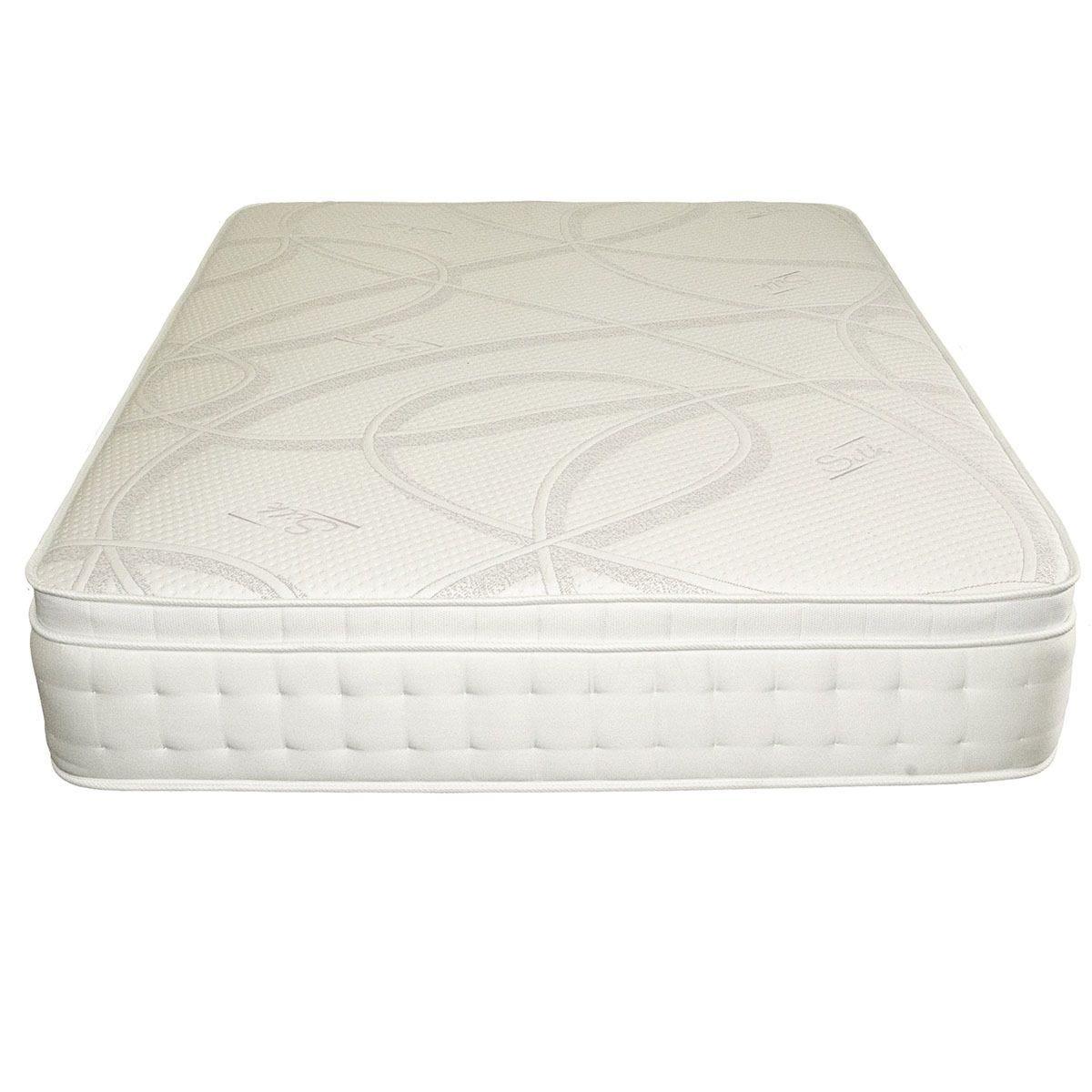 Comfy Deluxe 1500 Pocket Silk Mattress - White