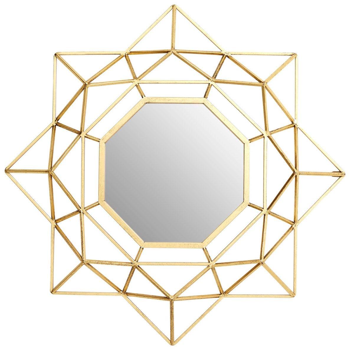 Premier Housewares Farran Wall Small Mirror - Champagne