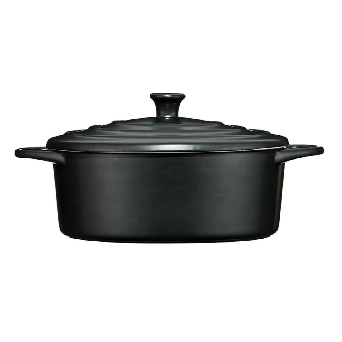 Premier Housewares Black Casserole Dish - 2.5L