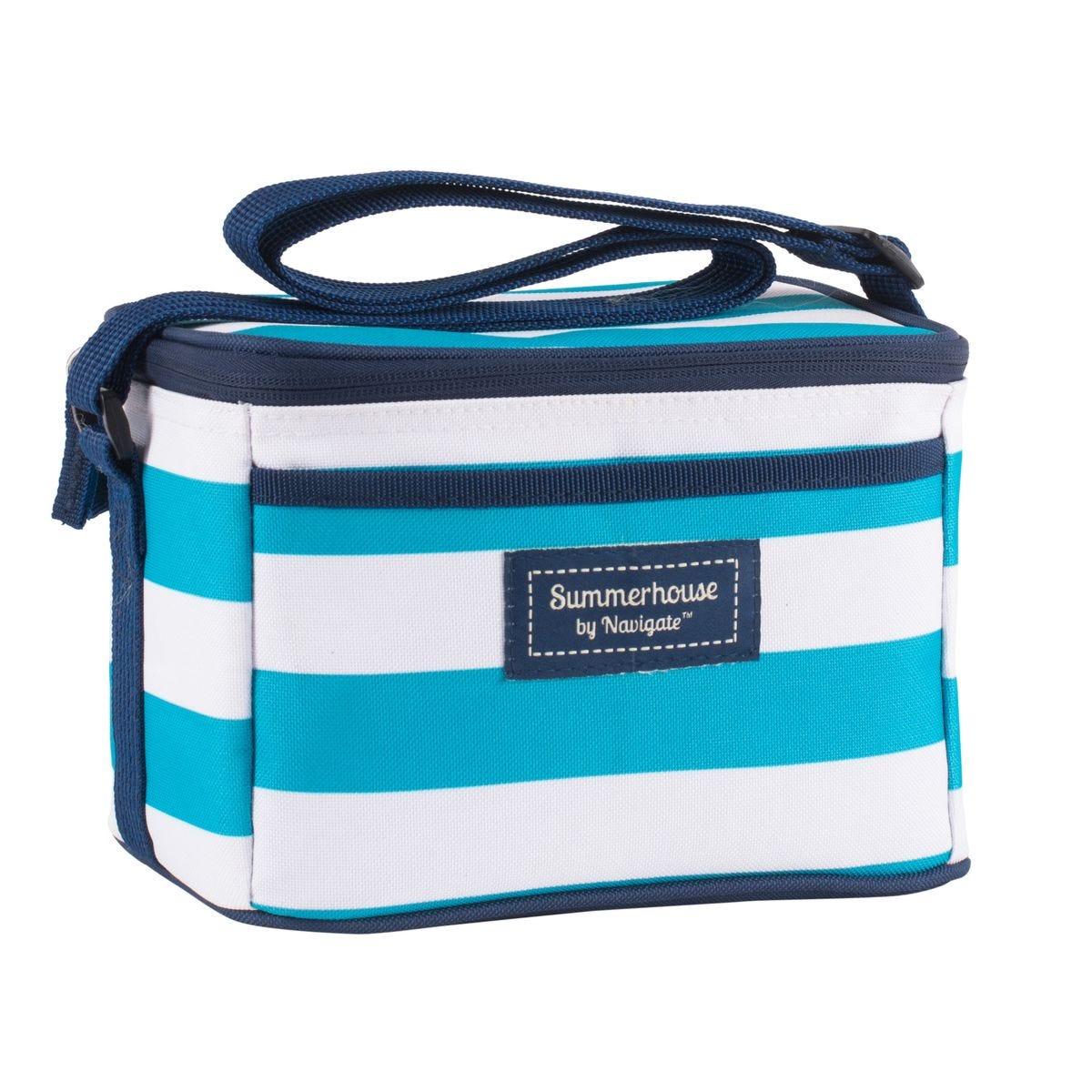 Summerhouse Coast 4L Personal Cool Bag - Aqua & White