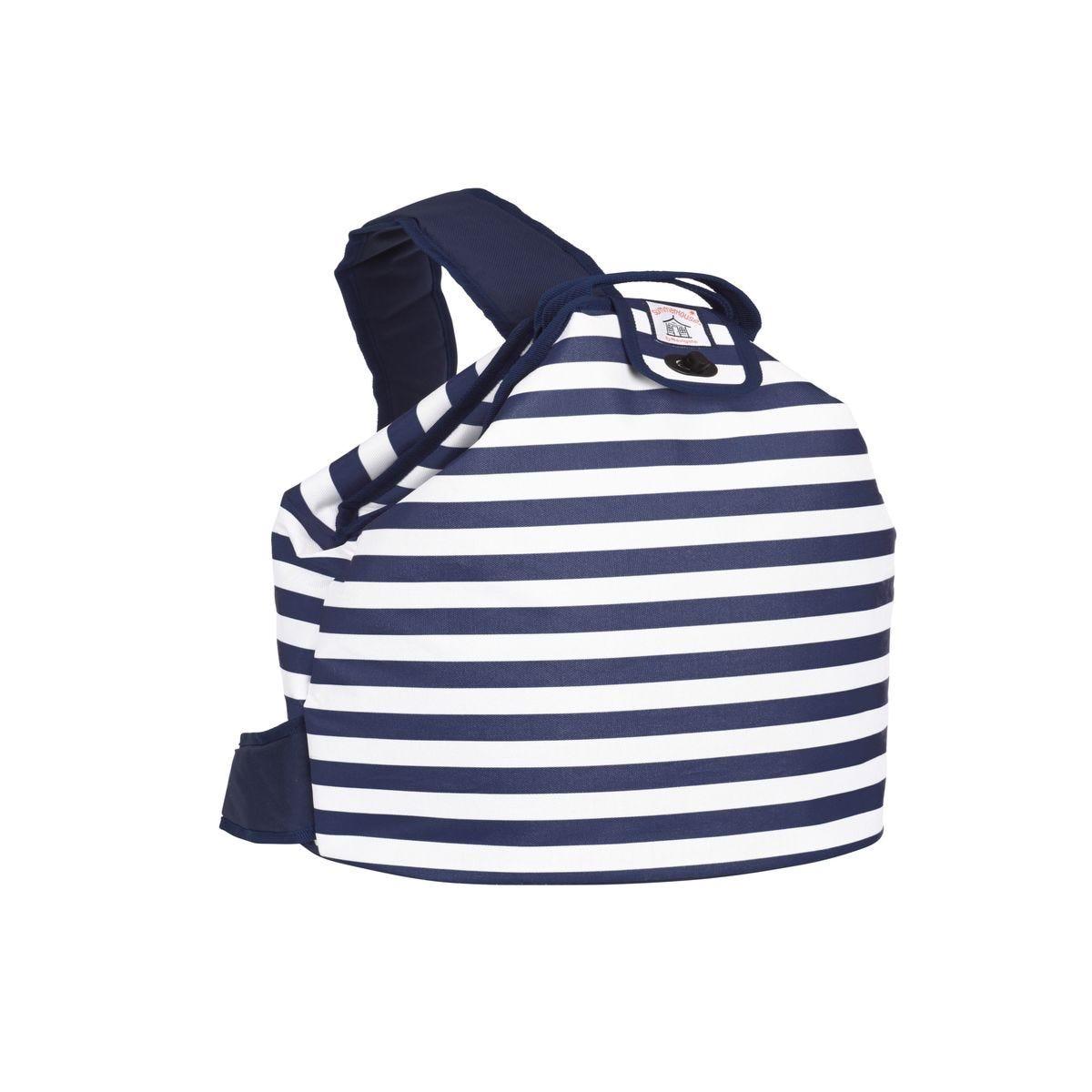Summerhouse Coast Stripe 20L Duffle Bag - Navy & White
