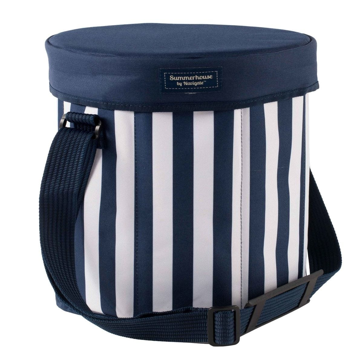 Summerhouse Coast Stripe 15L Seat Cooler - Navy & White