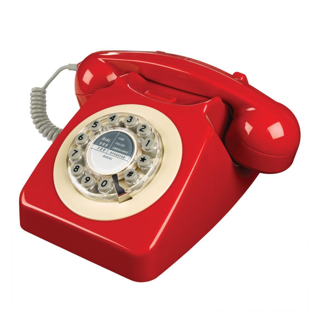 Wild & Wolf 746 Telephone – Red