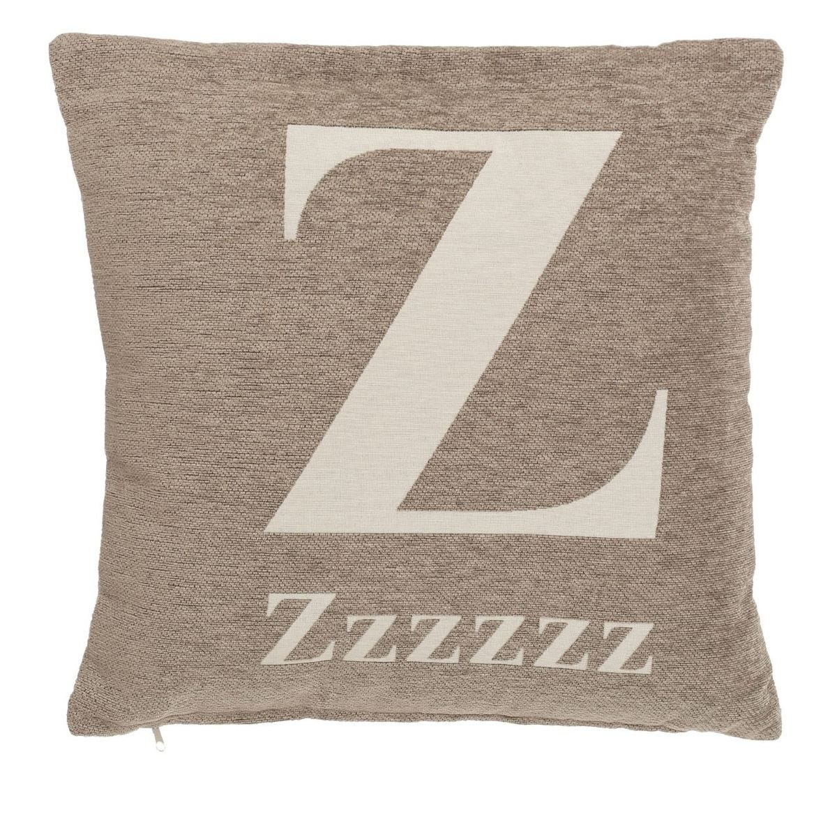 Premier Housewares 'zzzzzz' Cushion - Natural