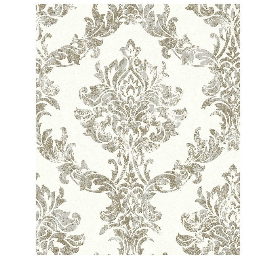 Compare prices for Boutique Opal Damask Wallpaper - Gold