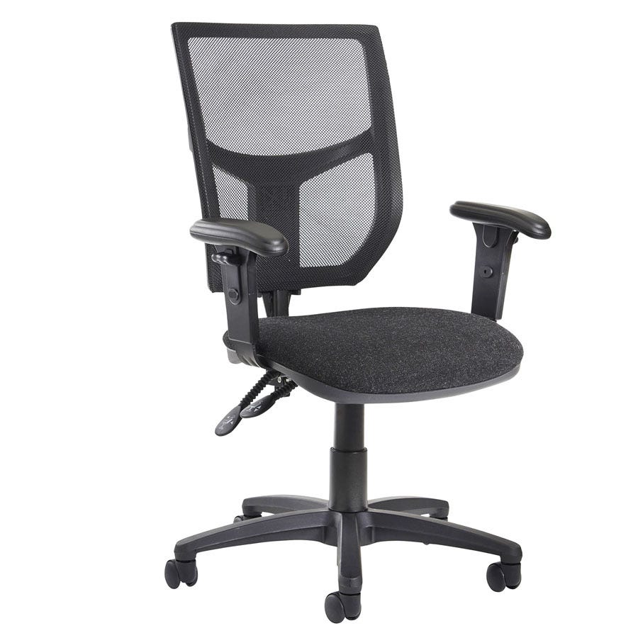 Compare prices for Dams Altino High Back Operator Chair with Adjustable Arms - Charcoal
