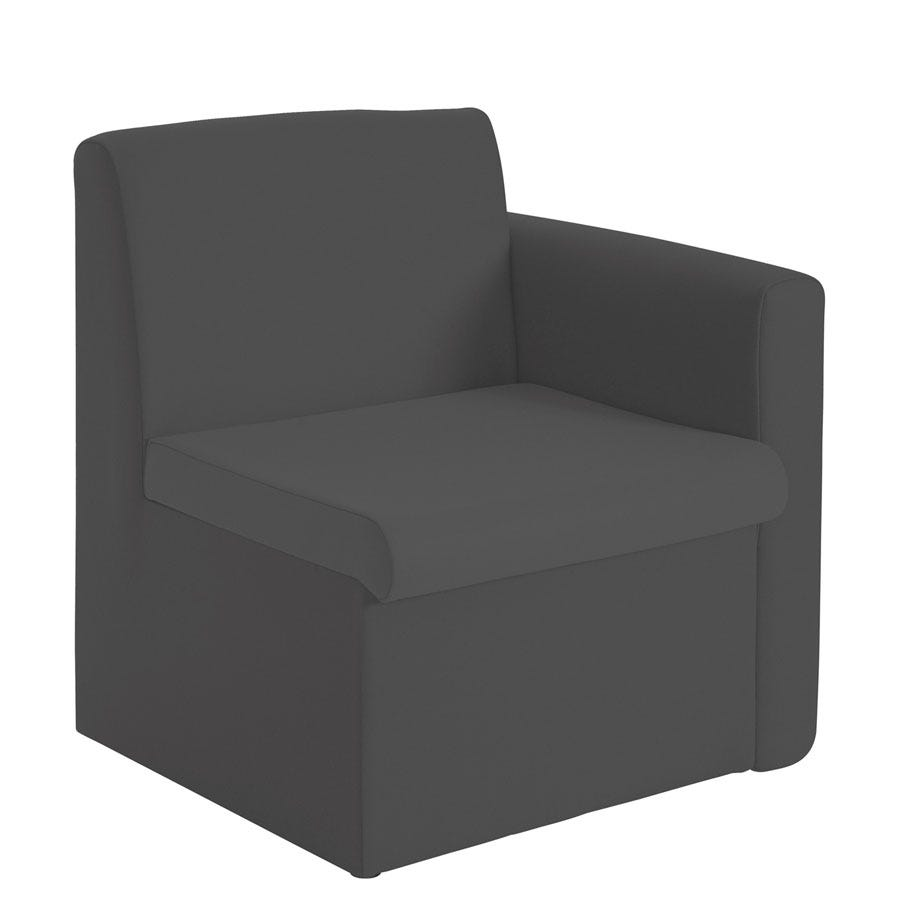 Compare prices for Dams Alto Modular Reception Seating Left Arm - Charcoal