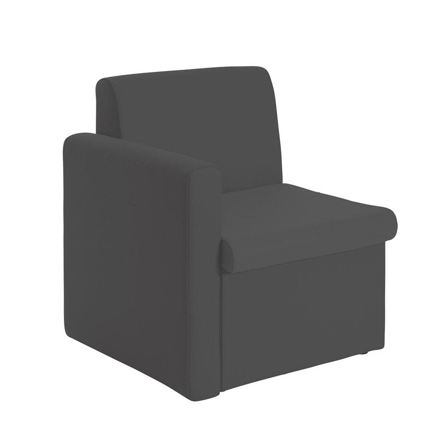 Compare prices for Dams Alto Modular Reception Seating Right Arm - Charcoal
