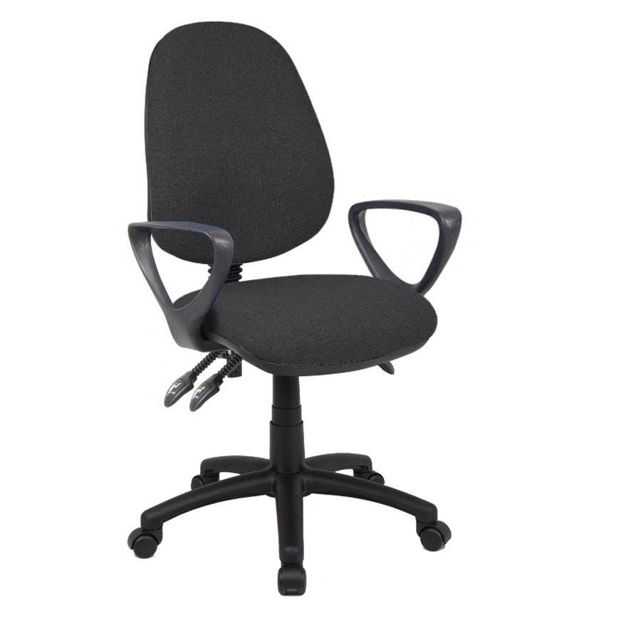 Compare cheap offers & prices of Dams Vantage Three-Lever Fixed-Arm Chair - Black manufactured by DAMS