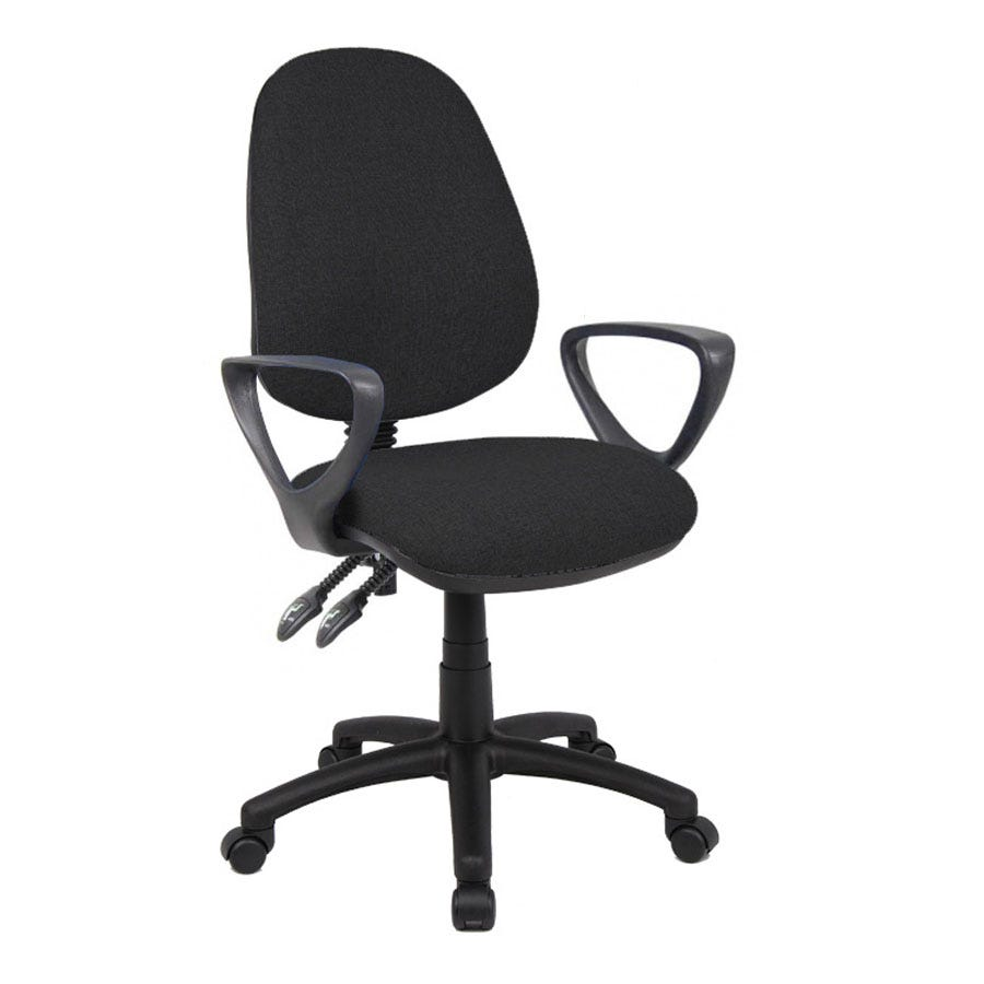 Compare cheap offers & prices of Dams Vantage Two-Lever Fixed-Arm Chair - Black manufactured by DAMS