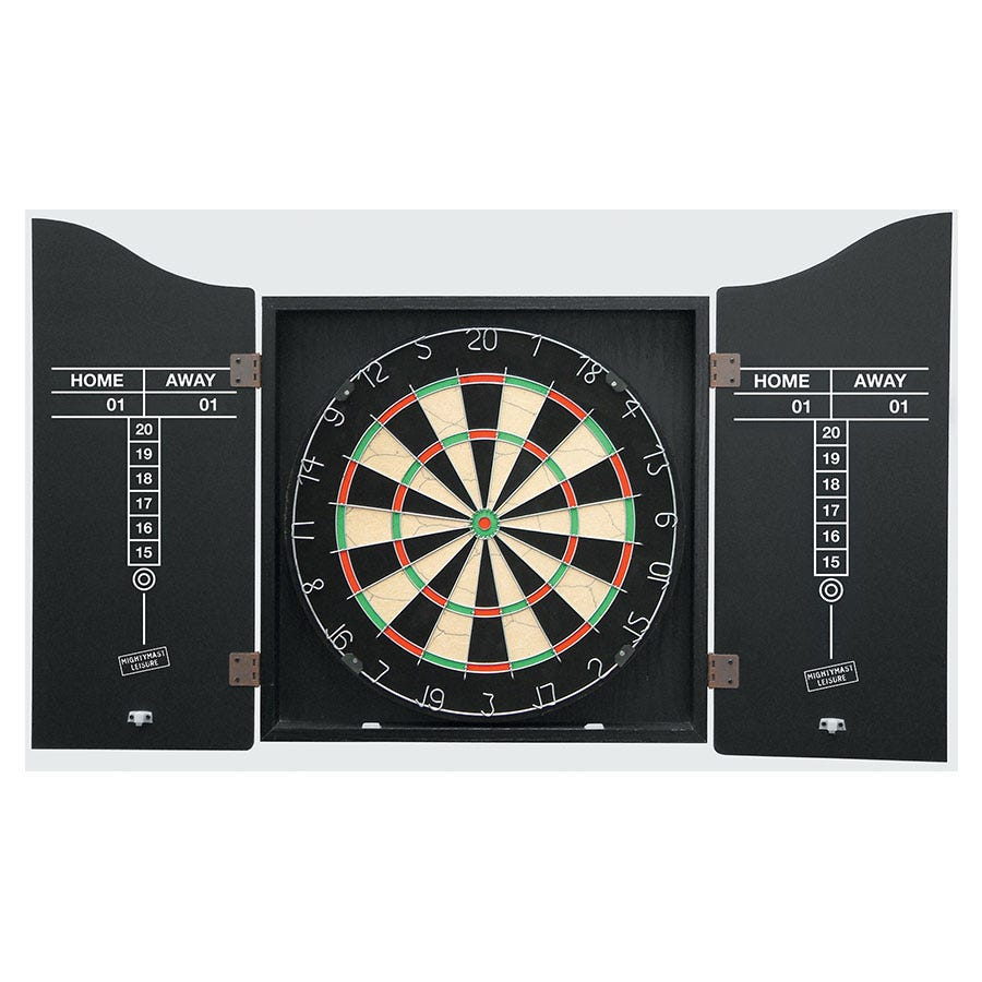 Compare prices for Mightymast Dartboard Set with Wall Cabinet and Darts