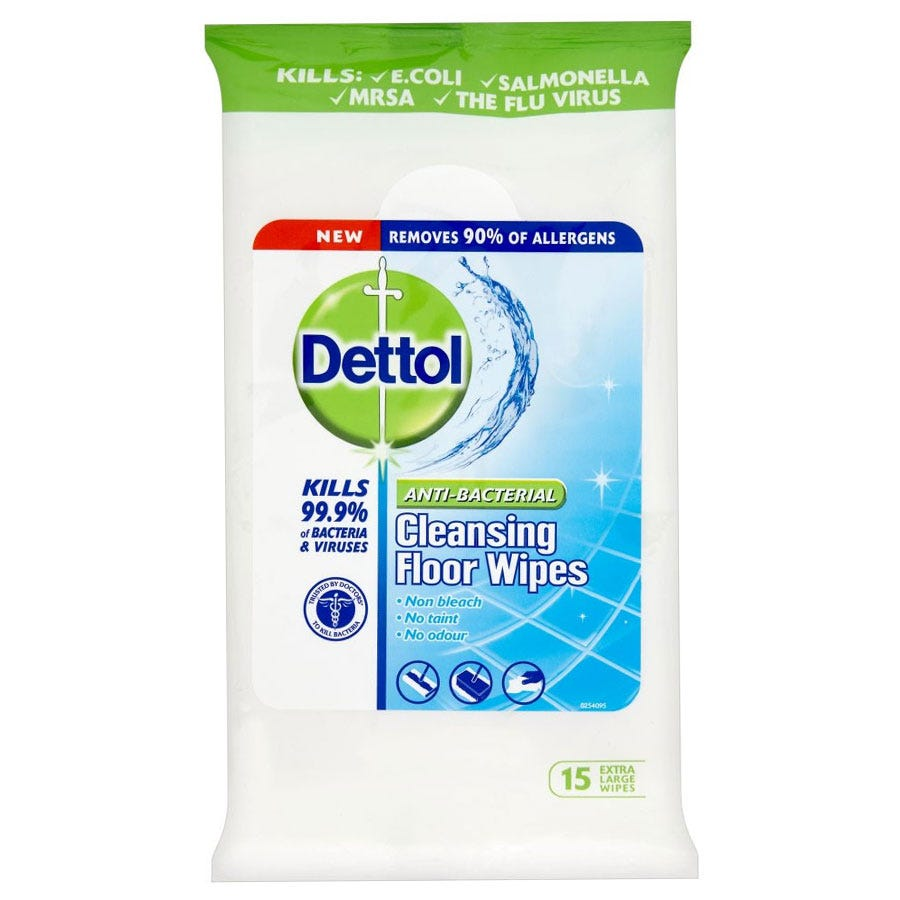 Image of Dettol Anti-Bacterial Cleansing Floor Wipes