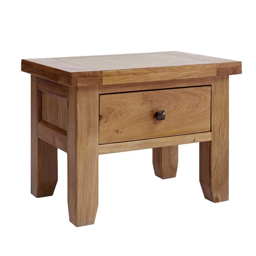 Ametis Devon Oak 1 Drawer Lamp Table