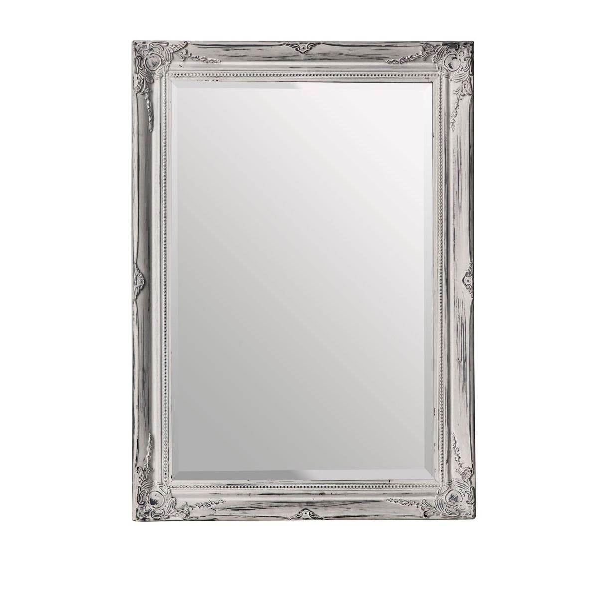 Premier Housewares Distressed Wall Mirror - White