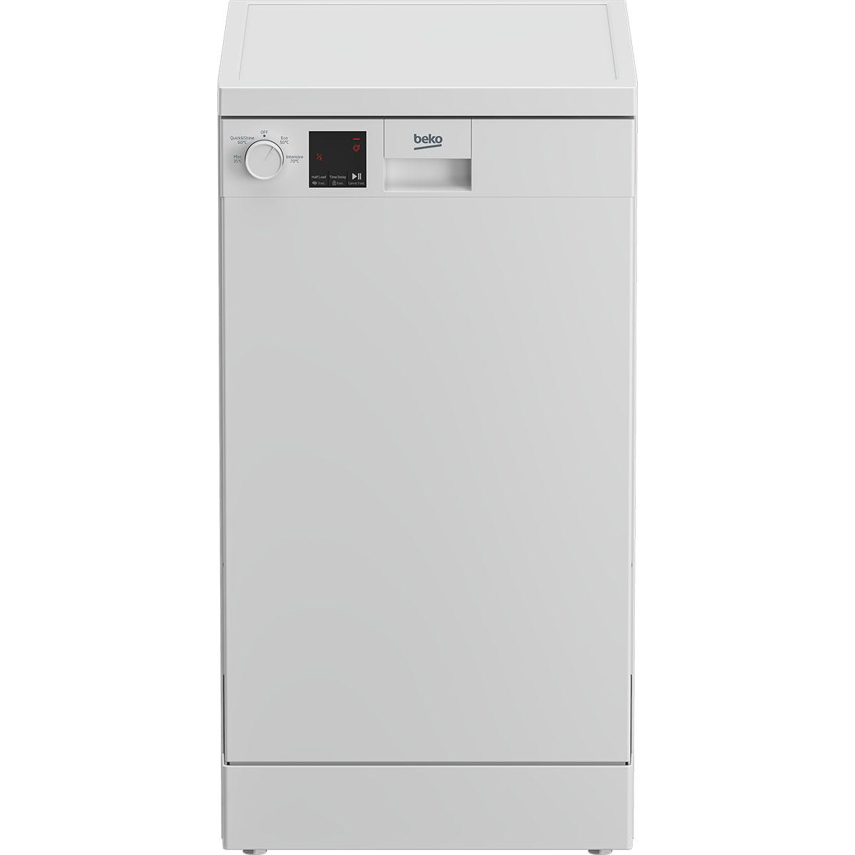 Beko DVN04020W 10-Place Setting Freestanding Slimline Dishwasher - White