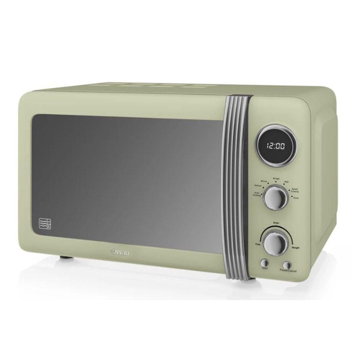 Swan SM22030GN 800W 20L Digital Solo Microwave - Green
