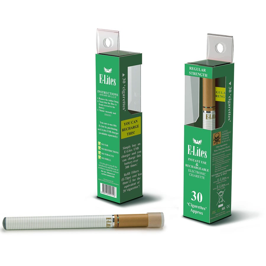 Compare cheap offers & prices of Elite E-Lites E30 Instant Use E-Cigarette - Menthol manufactured by Elite