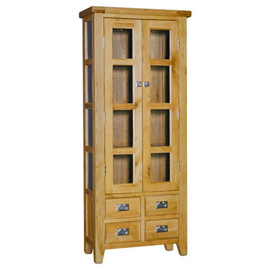 Ametis Elegance Oak Small Display Cabinet
