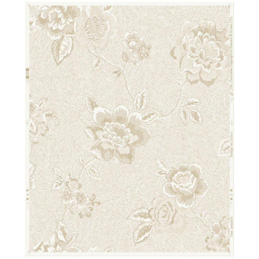 Compare prices for Graham and Brown Boutique Embossed Floral Wallpaper - Ivory